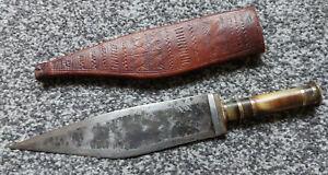Antique African Somalian Billa Blade Sword Dagger Knife Leather Sheath
