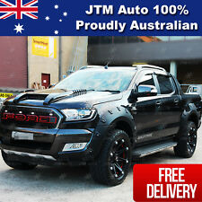 To suit Ford Ranger PX2 Wrinkle Matt Black Fender Flares Wheel Arch 2015-2018