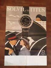 manifesto,POSTER ,SOLVIL ET TITUS,ROMA  orologi,SWISS WATCHES ,CASABLANCA BOGART