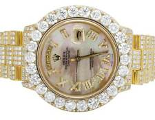 Mens18K Yellow Gold Rolex President 36MM 18038 Day-Date Diamond Watch 28.75 Ct