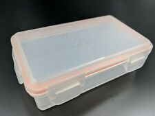 Battery Storage Case Plastic Holder Box For Two 18650 Type Batteries NEW