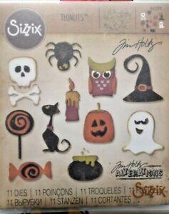 662379 Sizzix Thinlits Die Set 11PK - Mini Halloween Things By Tim Holtz