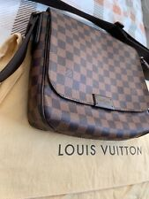 Auth LOUIS VUITTON District MM Men's Shoulder Bag Damier Leather N41212 30EQ377