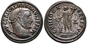 MAXIMINUS II (310-311 AD) AE Follis. Antioch #BF 8098