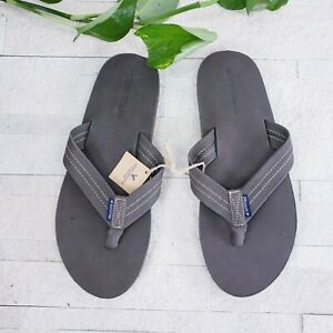 AE AMERICAN EAGLE Brown Thong-Strap Flip-Flops Slipper with Perforations Size 10