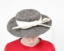 SUPERBE handgearbeiteter Chapeau en feutre dans avec boucle superposé Felt chapeau vintage