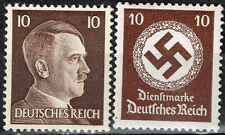 Germany WW2 Third Reich Symbols Hitler Swastika stamps 1942 MLH brn