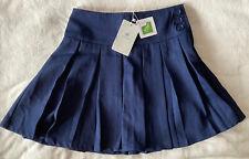 Bienzoe Classic Pleated Uniform Skirt Navy Size 12 Nwt
