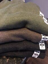 NEW 3XLT 3XT TURNBURY 100% Merino Wool V-Neck Sweater Army Green $80