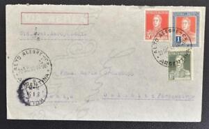 ARGENTINA to GERMANY 1933 RARE Aeropostale Airmail Flight Cover ALTO ALEGRE to..