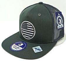 ccd48251fb2 US FLAG Snapback Cap USA Old Glory Mesh Trucker Hat OSFM Adjustable NWT