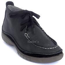 Hush Puppies HP Stiefelette 36 LEDER Schnür Boots Hochfront Schwarz Black NEU