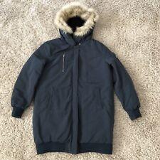 ZARA Trafaluc Women's Faux Fur Hooded Winter Coat Size Medium Oversized Parka
