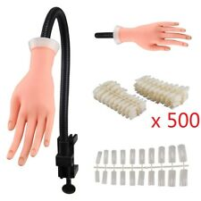 Adjustable Size MakeUp Nail Art Training Hand Practice Learning Model Refit Tip