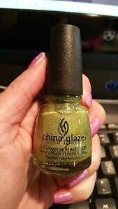 China Glaze Laser Lime Nail Polish Lacquer - Tronica Holographic Holo Collection