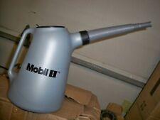 NEW Mobile 1 5 Liter Plastic Oil Can w/ Flexible Hose Gray Bundle