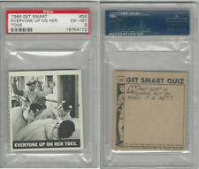 1966 Topps, Get Smart, #34 Everyone Up On Her Toes, PSA 6 EXMT