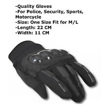 Mens Black Gloves Hard Knuckle for  Army,Security, Police, motorcycle RRP - £25
