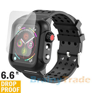 For Apple Watch Series 4/5/6/SE 44mm DropProof Protective Case Cover+2Strap Band