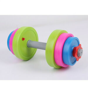 1 Set/9pcs Funny Chic Barbell Sports kids Barbell for Home Kids Children