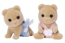 SYLVANIAN FAMILIES 4166 Honey Bear Honeybear Twins - set of 2 Babies 4cm Twin