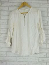 TRENERY BY COUNTRY ROAD Sz  S 10 Top/Blouse  Off White/Cream Exposed Zip