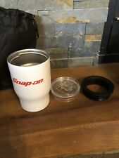 Snap On Tools 3 In 1 White Tumbler Coozie/Koozie Travel Mug/cup 12oz