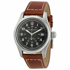 Hamilton Khaki Field 38MM Brown Leather Automatic Men Watch H70455533 New Orig