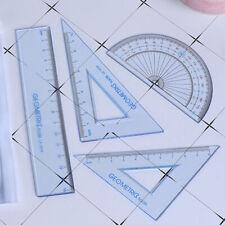 4pcs Math Drawing Measurement Geometry Triangle Straightedge Ruler Set School