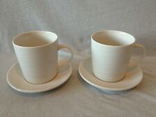Starbucks At Home Collection 2004 White Cup & Saucer Set Of 2
