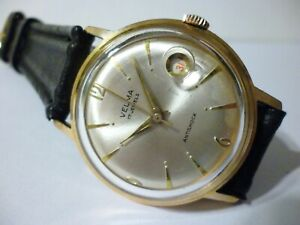 Velma by Poljot men´s wristwatch 17Jewels Gold Plated Working Condition 34mm