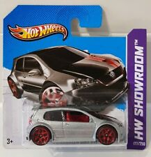 Hot Wheels VOLKSWAGEN GOLF GTI Silver 7/10 VW 2013 HW Showroom All Stars 177/250