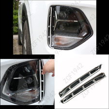 Car Headlight Eyebrow Decorative Trim Chrome Strip For 2019 Hyundai Santa Fe 2PC