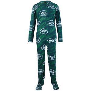 New York Jets NYJ NFL Grandstand Union Suit Pajamas One Piece SZ XXL New NWT