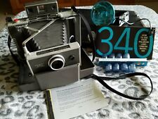 Polaroid 340 Land Camera Timer Flash Case Cold Clip Developer Manuals 1969