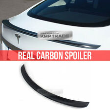 Real Carbon Fiber Rear Trunk Lip Spoiler OEM TYPE For TESLA 2012-2016 MODEL S