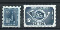 Canada N°298/99** (MNH) 1957 - Congrès de l'U.P.U.