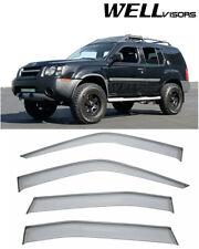 For 99-04 Nissan Xterra WellVisors Side Window Visors Black  Trim