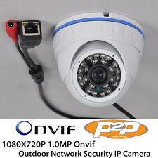 CCTV 1080x720 1.0MP HD P2P 24pcs IR LED Outdoor Onvif Security IP Dome Camera