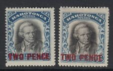 1931 KGV SG93 & Sg94 both watermarks - 2d -  COOK ISLANDS - mounted mint