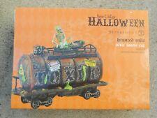 Dept 56 Halloween Village Haunted Rails Toxic Waste Car + Testin' The Toxins Nib