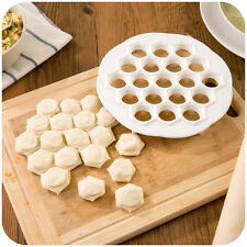 Dumpling Mante Ravioli Pierogi Pelmeni Mold Maker Dough Press Cutter 8x8in,in US