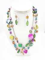Colorful New Double Strand Shell Necklace & Earring Set #N2232