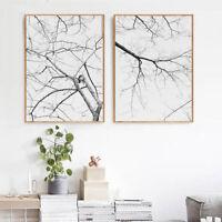 Tree Branch Canvas Poster Minimalist Abstract Wall Art Print Modern Home Decor
