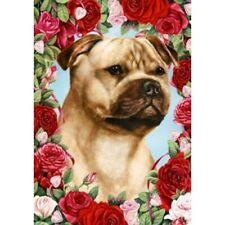 Roses House Flag - Fawn Staffordshire Bull Terrier 19245
