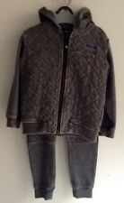 Brand New Boy's Fleecy Hooded Jacket (size 3) And Pants (size 4) Piping Hot