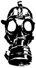GAS MASK VINYL DECAL STICKER WINDOW WALL CAR BUMPER LAPTOP ZOMBIE WALKING DEAD