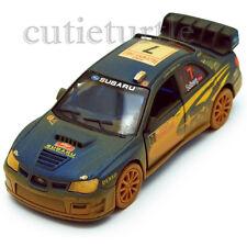 Kinsmart 2007 Subaru Impreza WRC Rallye Monte Carlo #7 1:36 KT5328DY Blue Muddy