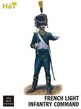 1/32 Napoleonic French Light Infantry Command 18 Plastic Toy Soldiers HaT 9305