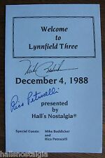 Autographs of Mike Boddicker and Rico Petrocelli of the Boston Red Sox